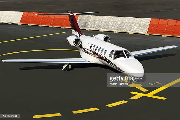 Business plane on a runaway