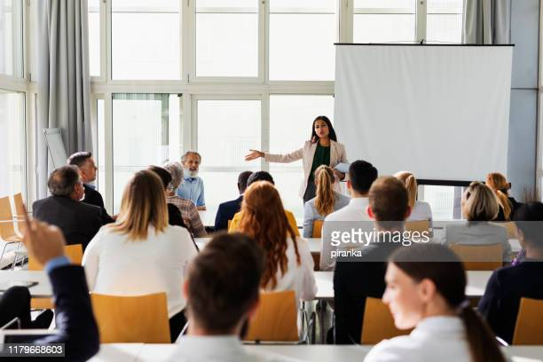 business presentation - attending stock pictures, royalty-free photos & images
