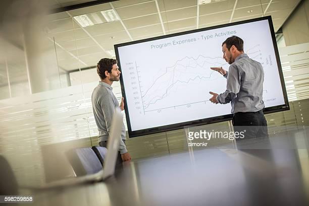 apresentação de negócios  - monitor flat screen - fotografias e filmes do acervo