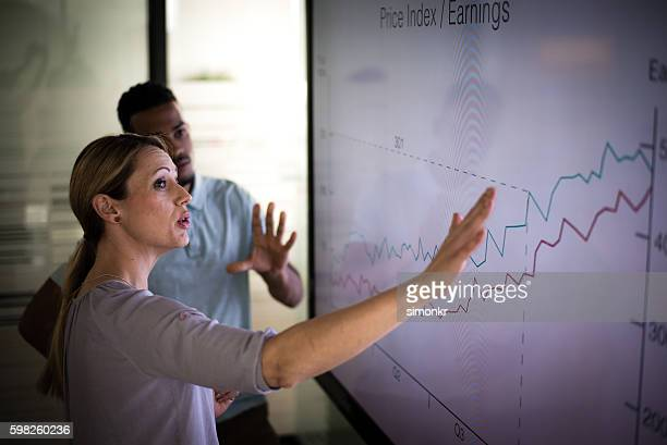 business presentation - business strategy stock photos and pictures