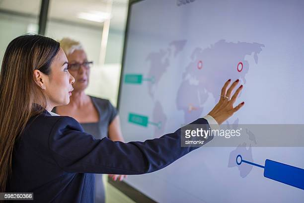 business presentation - world map stock photos and pictures