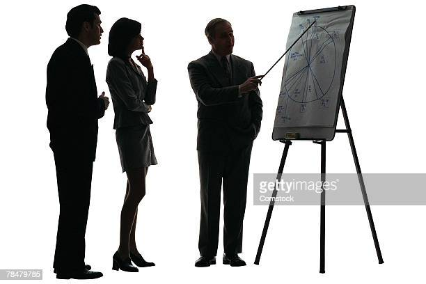 Business presentation , silhouette