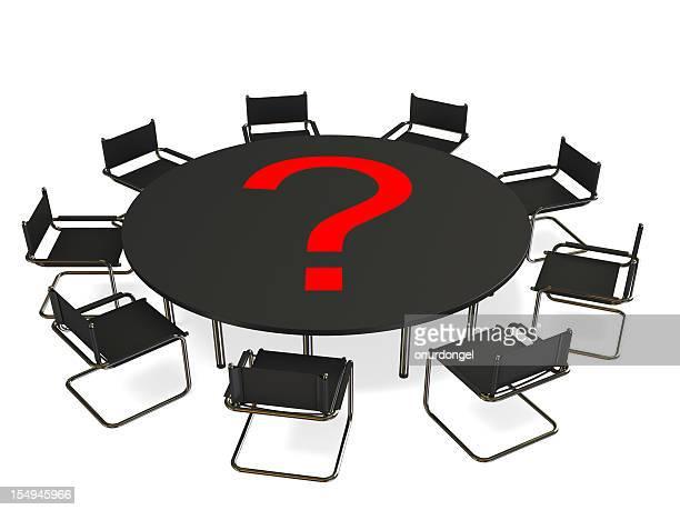 problema de negócios - mesa de reunião - fotografias e filmes do acervo