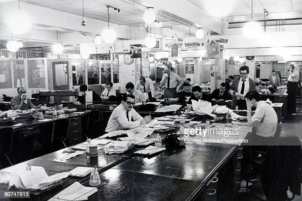 14th February 1969 London The Editorial floor at the Daily Mail newspaper