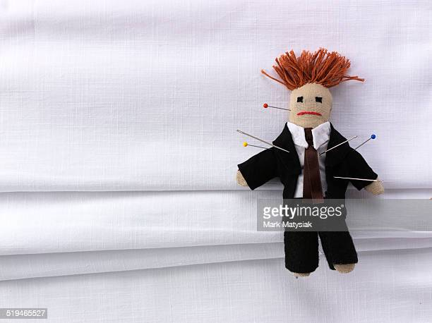 business revenge - voodoo doll stock photos and pictures