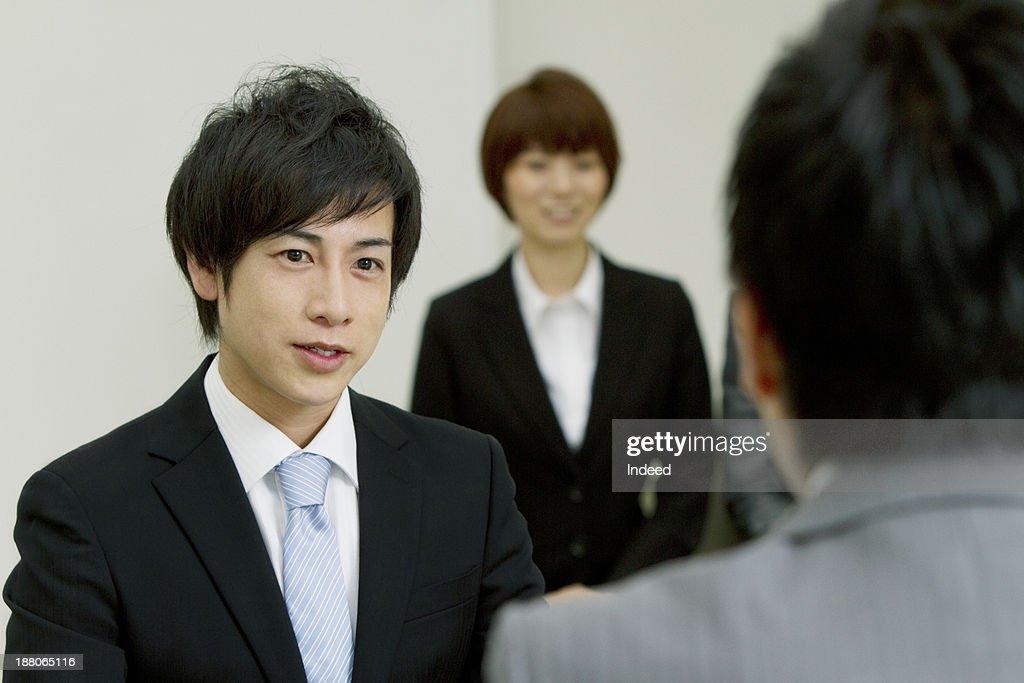 [Business scene] Interview : Stock Photo