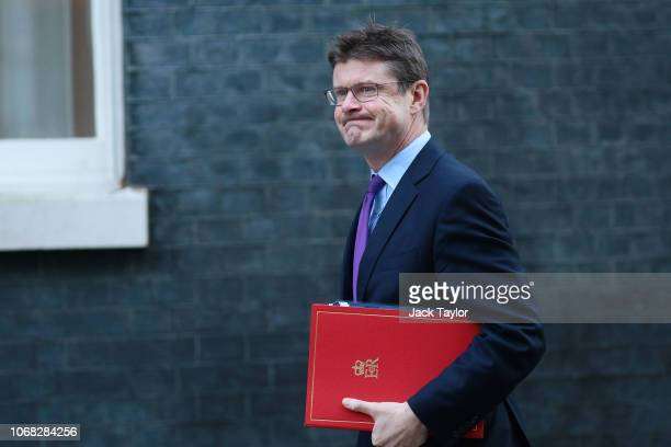 Business Secretary Greg Clark arrives at 10 Downing Street as Ministers attend a weekly cabinet meeting ahead of a meaningful vote debate on the...