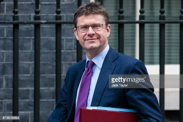 Business Secretary Greg Clark arrives at Number 10 Downing Street on November 13 2017 in London England British Prime Minister Theresa May is to hold...