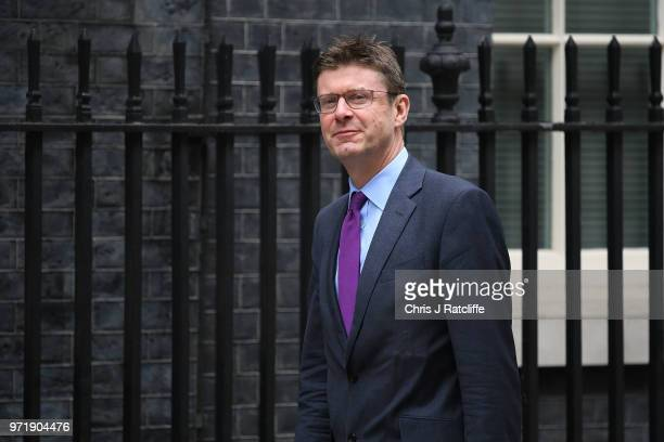 Business Secretary Greg Clark arrives for a cabinet meeting at 10 Downing Street on June 12 2018 in London England