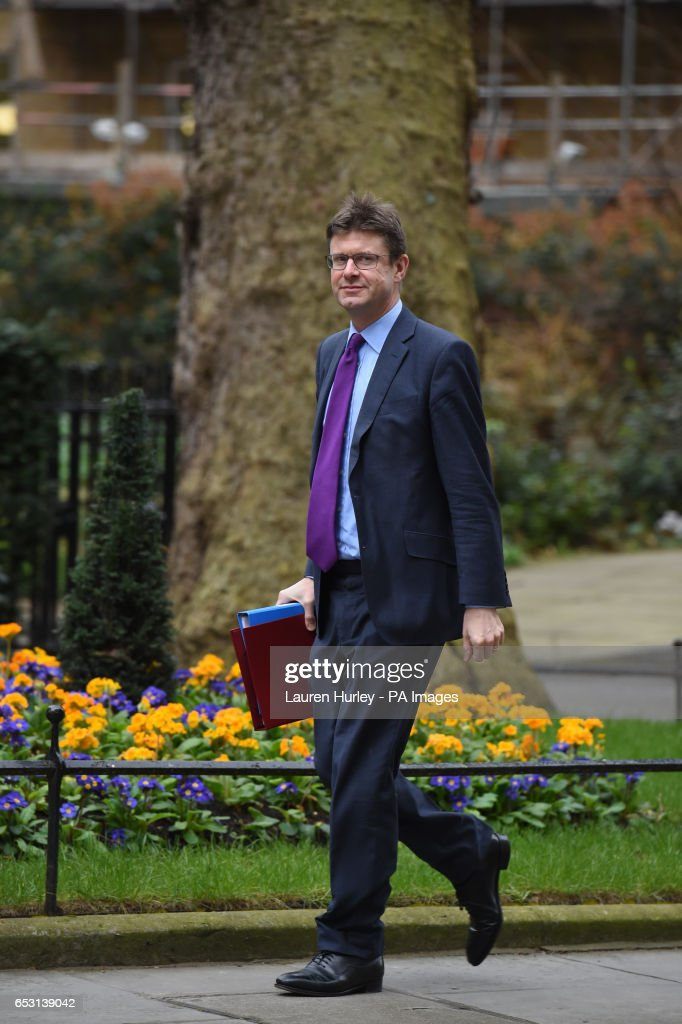 Business Secretary Greg Clark arriving at 10 Downing Street, London for the weekly cabinet meeting.