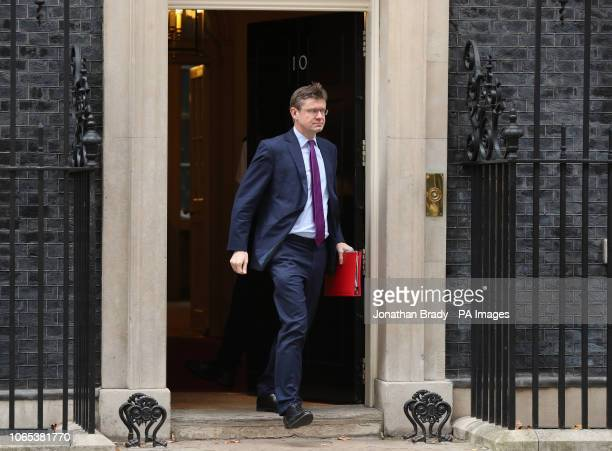 Business Secretary Greg Clark leaves 10 Downing Street in London following a meeting of the Cabinet