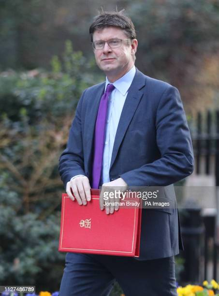 Business Secretary Greg Clark leaves Downing Street London