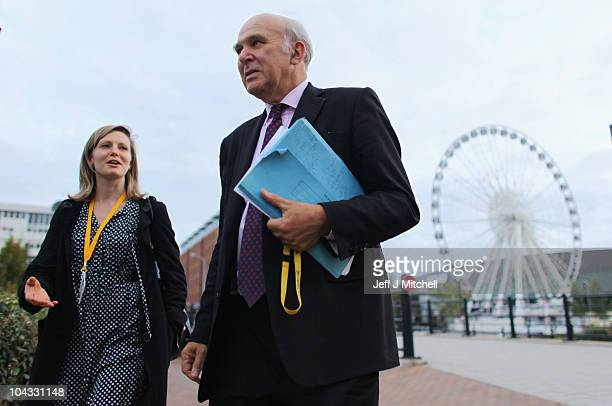 Business secretary Vince Cable of the Liberal Democrats leaves the party conference at ACC Liverpool conference centre on September 21, 2010 in...