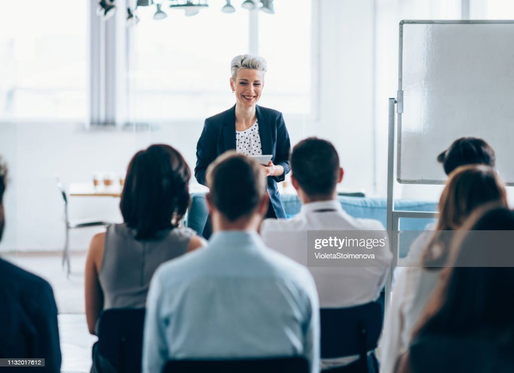 Business seminar : Stockfoto
