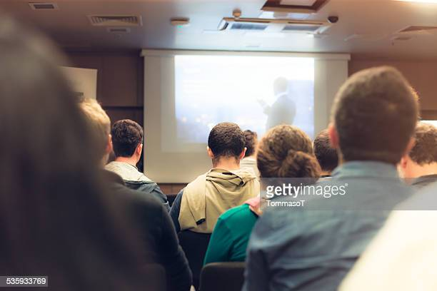 business seminar - projection equipment stock pictures, royalty-free photos & images