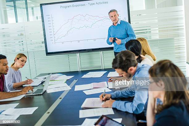 business seminar - financial analyst stock photos and pictures