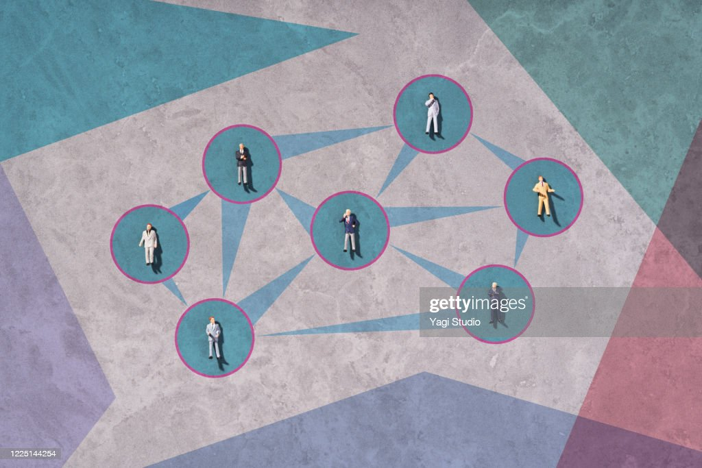Business social distance : Stock Photo