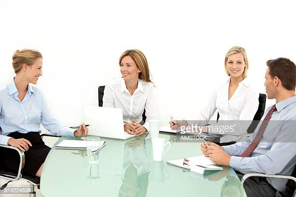 business staff meeting - medium group of people stock pictures, royalty-free photos & images
