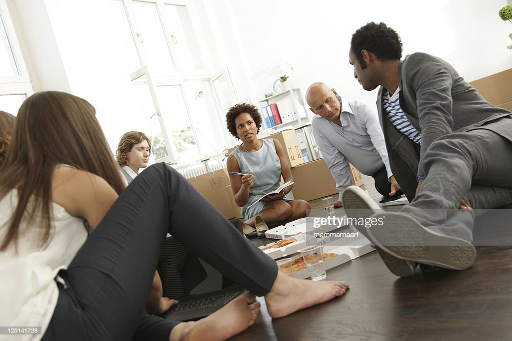Business Start-up, Lunch Meeting : Stock Photo