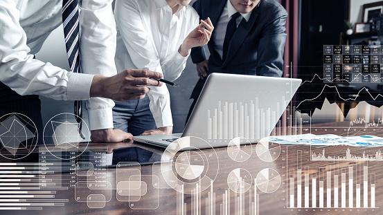 Business statistics concept. 1079939122