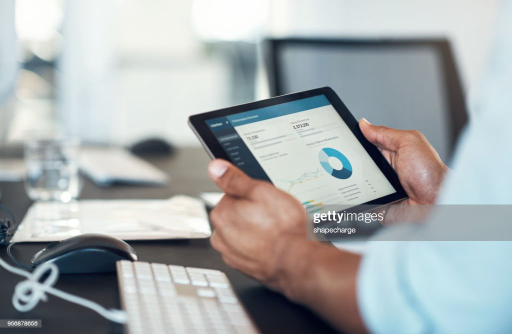 Business stats in the form of an app : Stock Photo