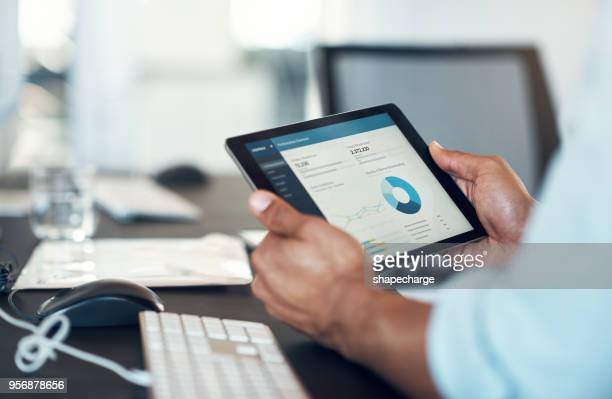 business stats in the form of an app - finanza foto e immagini stock