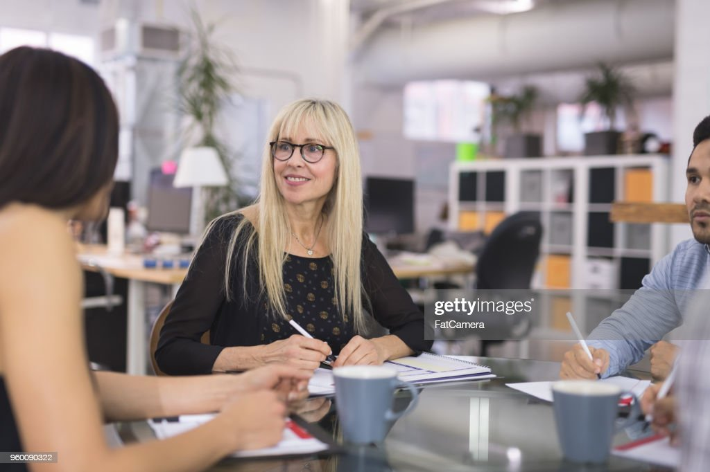 Business Strategy Meeting : Stock Photo