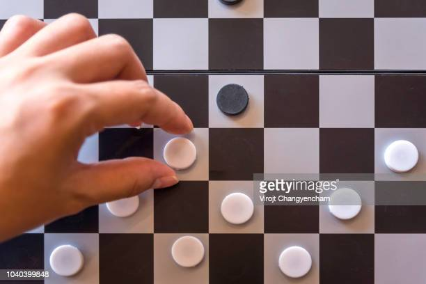 business strategy planning - chequers stock photos and pictures