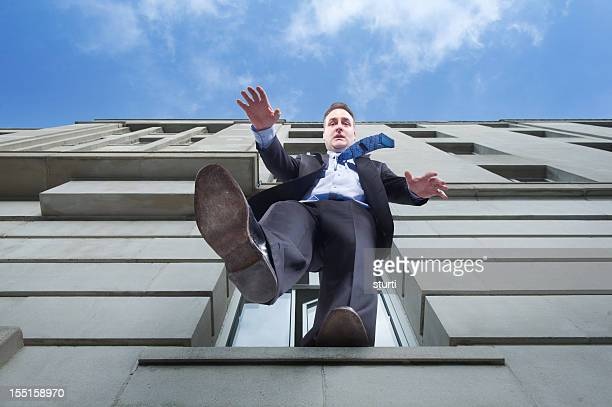 business suicide - leap of faith stock photos and pictures