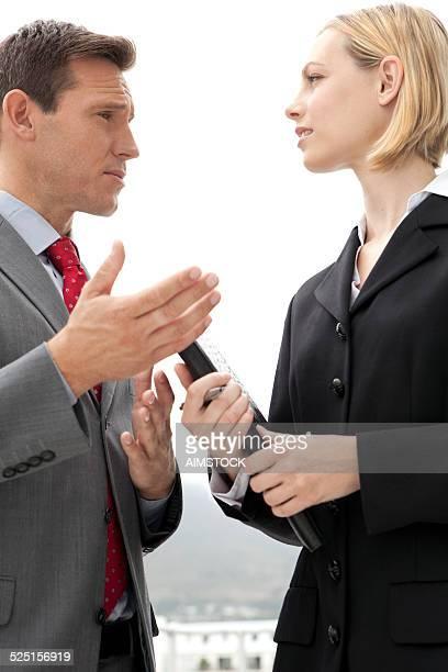Geschäftliche Gespräch
