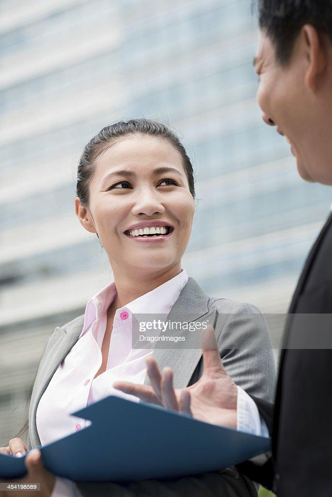 Business talking : Stock Photo