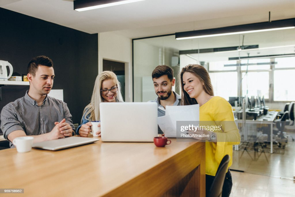 Business team around the table : Stock Photo