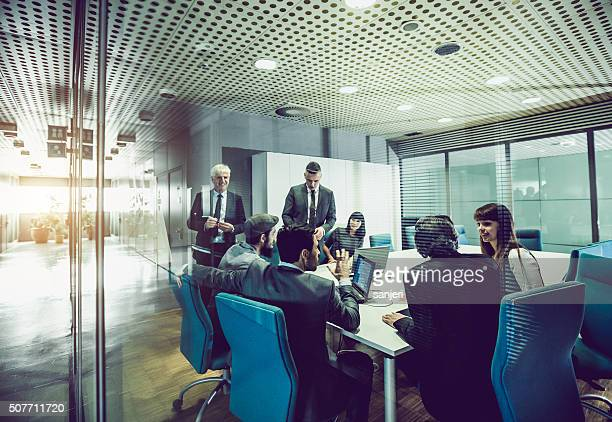 business team at the office - business finance and industry stock pictures, royalty-free photos & images