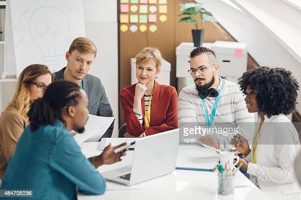 Business Team Brainstorming in office.