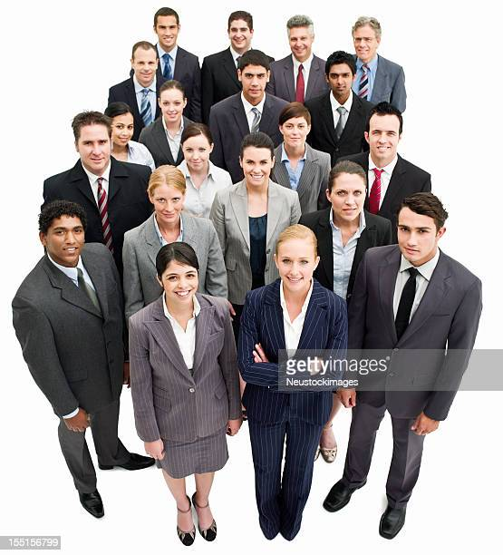 Business Team Group Photo - Isolated
