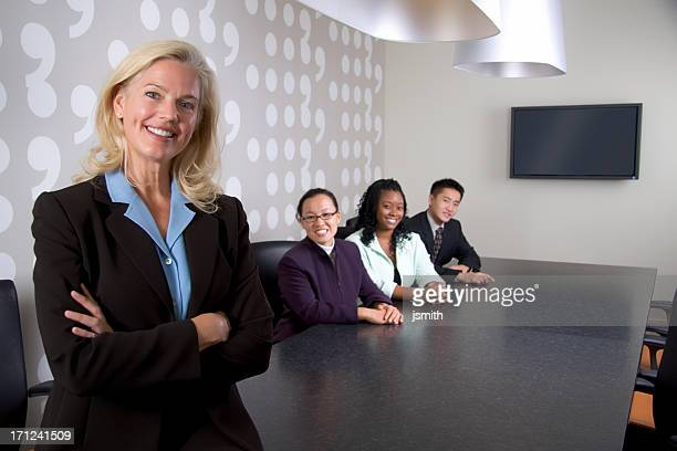 Business Team in Conference Room
