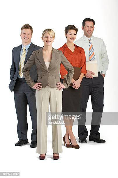 Business team isolated on a white background