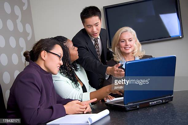 Business Team Laptop-Meeting