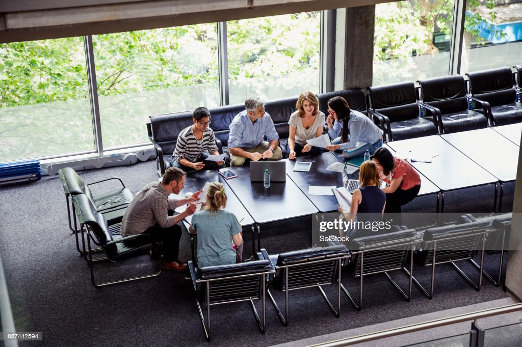 Business Team Making Plans Together : Stock Photo