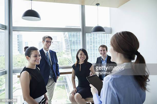 business team meeting in office - delegating stock photos and pictures
