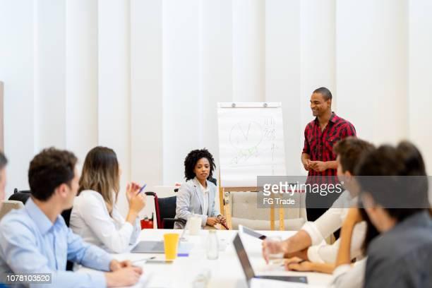 reunião da equipe de negócios - debate - fotografias e filmes do acervo