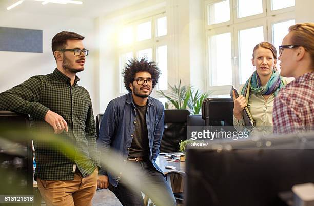 Business team of meeting at startup office