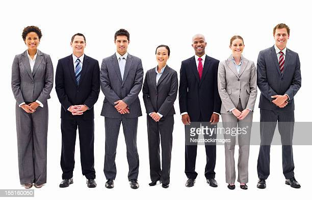Business Team Standing in a Line - Isolated