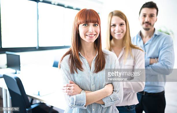 Business team standing togetherness  with arm crossed