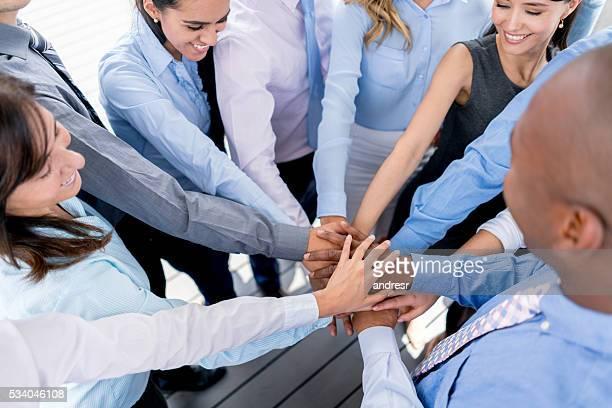 Business-team mit Hände zusammen