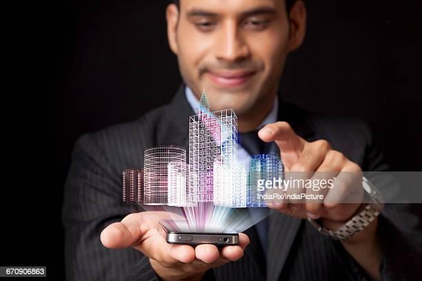 Business technology idea concept, Creative modern design template