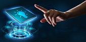 business technology internet networking concept light