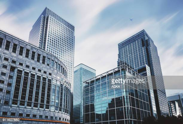 business towers - skyscraper stock pictures, royalty-free photos & images