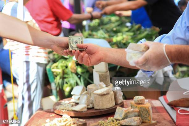 Business Transaction at Farmer's Market