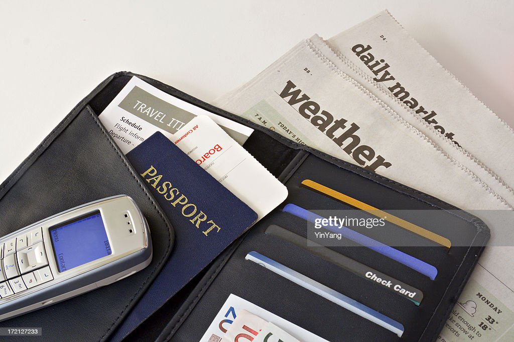 Business Travel Wallet With Passport Credit Cards Cell Phone